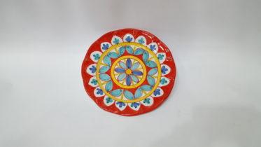 Geometrico - Rosso selenio