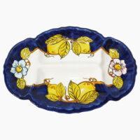 Antipastiera Conchiglia ovale - L'Arte in Ceramica Vietrese