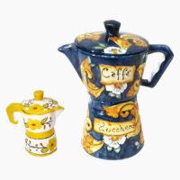 Caffettiera Moka - L'Arte in Ceramica Vietrese