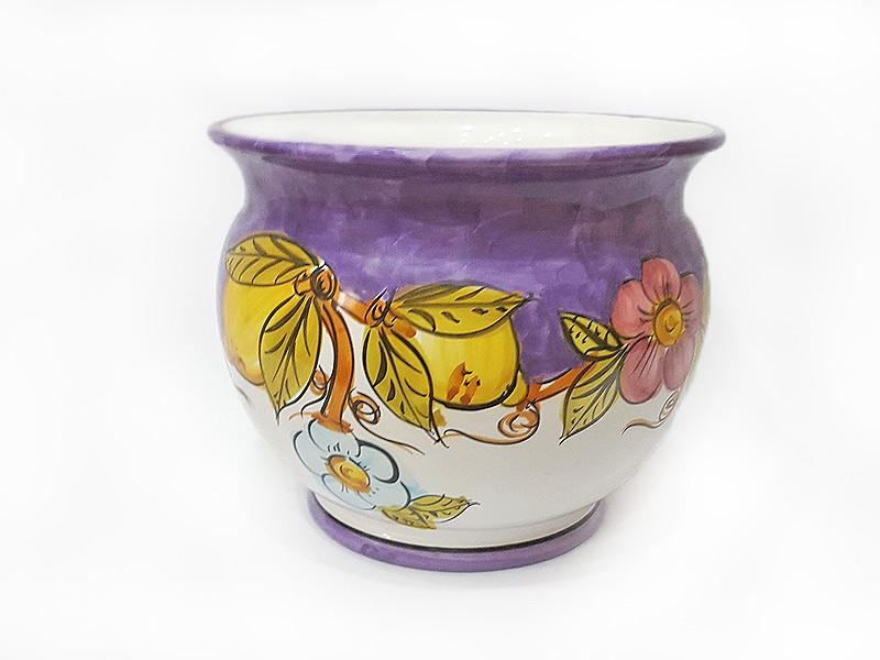 Caspò portapiante – Arte in Ceramica Vietrese