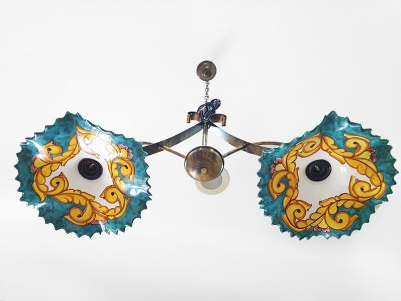 Lampadario Arte In Ceramica Vietrese