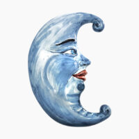 Luna da appendere - L'Arte in Ceramica Vietrese