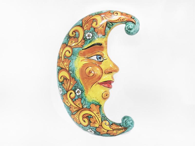 Sole e Luna da appendere – L'Arte in Ceramica Vietrese