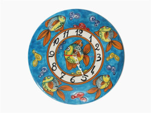 Orologio disco - L'Arte in Ceramica Vietrese