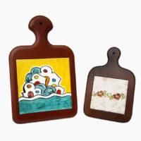 Poggiapentola con legno - L'Arte in Ceramica Vietrese