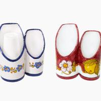 Portabicchiere doppio - L'Arte in Ceramica Vietrese