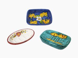 Portasapone doppio e portasapone singolo - L'Arte in Ceramica Vietrese