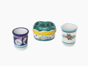 Portaspazzolino - L'Arte in Ceramica Vietrese