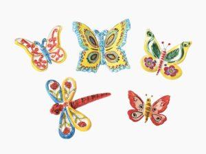 Farfalla e libellula - L'Arte in Ceramica Vietrese