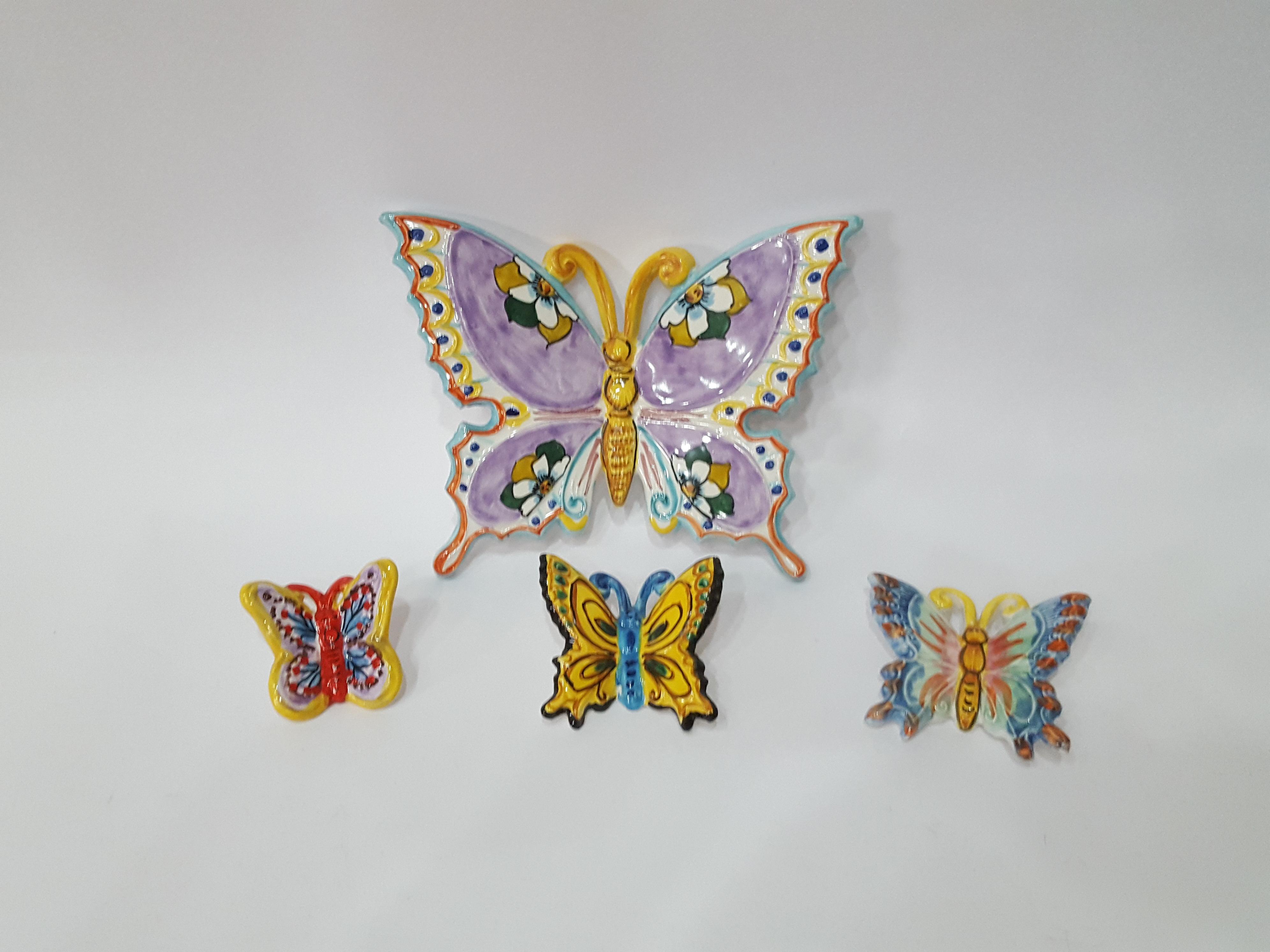 Farfalle arte in ceramica vietrese
