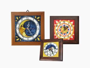 Orologio con cornice in legno - L'Arte in Ceramica Vietrese