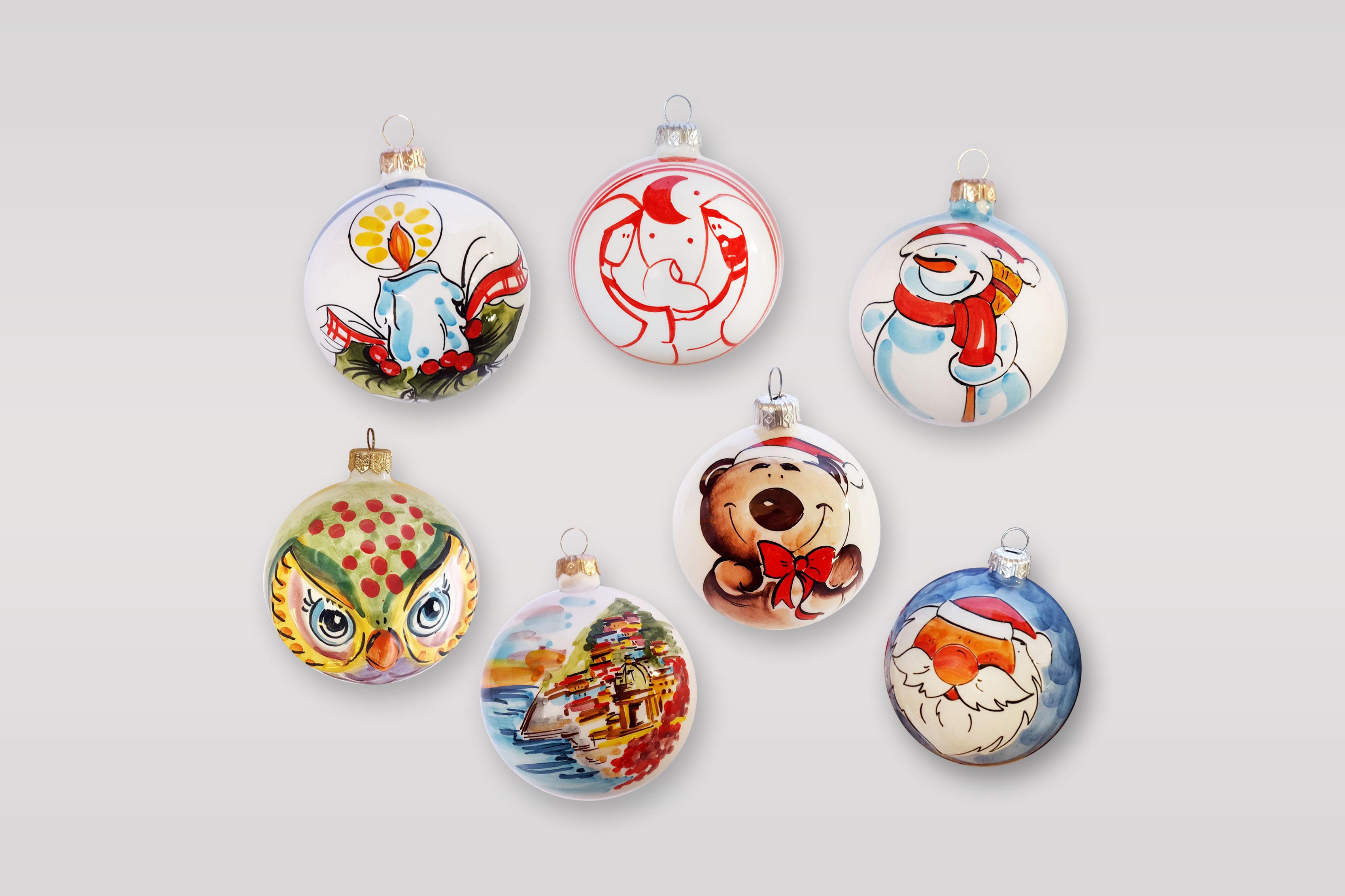 Accessori Natale.Accessori Per Albero Di Natale Arte In Ceramica Vietrese