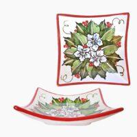Piatto natalizio - L'Arte in Ceramica Vietrese