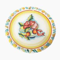 Piatto torta natalizio - L'Arte in Ceramica Vietrese