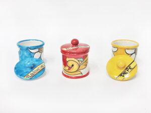 Barattolino spezie - L'Arte in Ceramica Vietrese