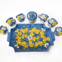 Vassoio da caffè con tazzine - L'Arte in Ceramica Vietrese