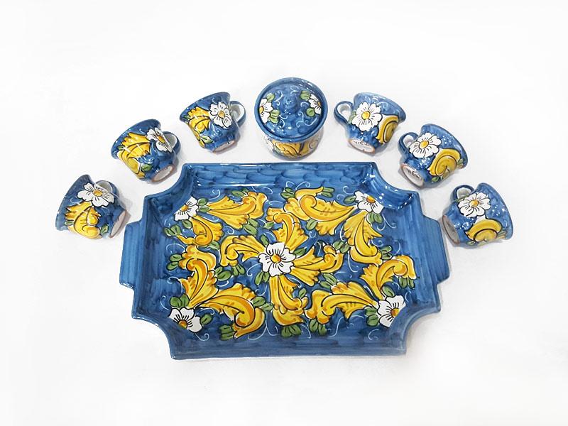 Vassoio da caffè con tazzine – L'Arte in Ceramica Vietrese