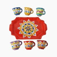 Vassoio rettangolare completo - L'Arte in Ceramica Vietrese