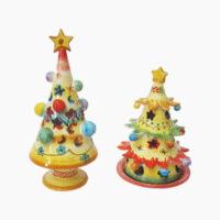Portacandela natalizi - L'Arte in Ceramica Vietrese