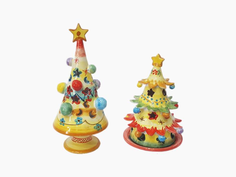 Portacandela natalizi – L'Arte in Ceramica Vietrese