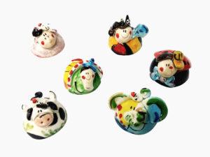 Animaletti tondi - L'Arte in Ceramica Vietrese