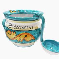 Porta bocconcini con mestolo - L'Arte in Ceramica Vietrese
