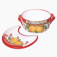 Porta bocconcini con piatto forato - L'Arte in Ceramica Vietrese