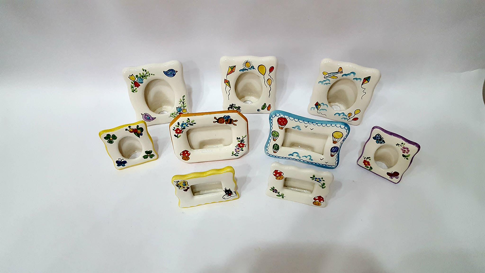 Cornice porta fotografia linea baby arte in ceramica vietrese