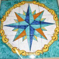 Pannello Rosa Dei Venti - L'Arte in Ceramica Vietrese