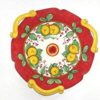 Centrotavola tre manici - L'Arte in Ceramica Vietrese