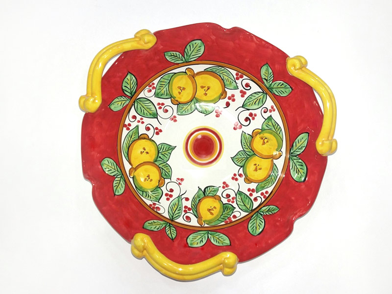 Centrotavola tre manici – L'Arte in Ceramica Vietrese