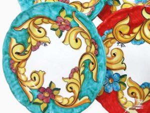 Piatto personalizzato con iniziali - L'Arte in Ceramica Vietrese