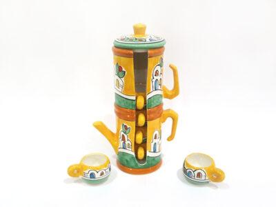 Caffettiera porta tazzine - L'Arte in Ceramica Vietrese