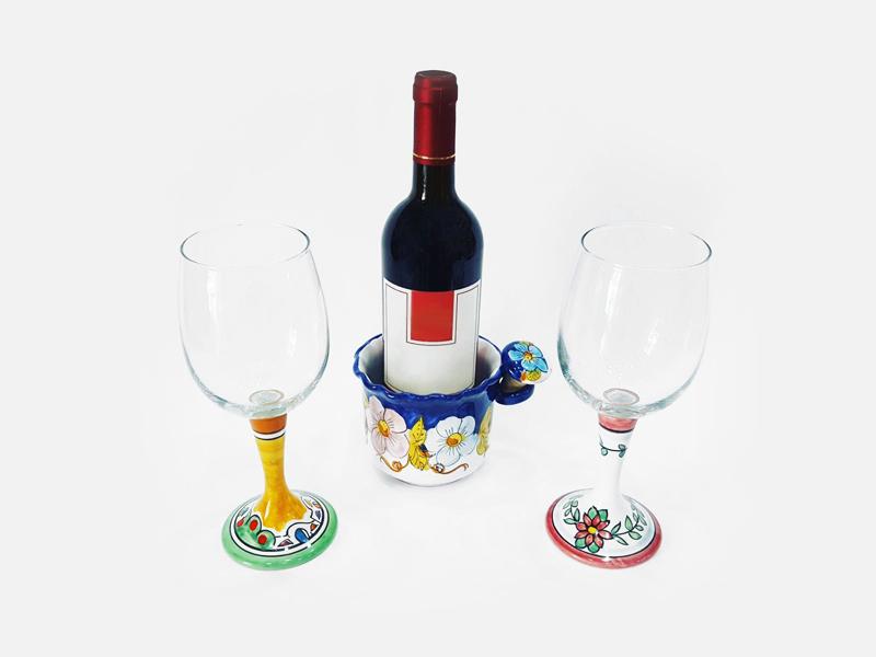 Calici vino – L'Arte in Ceramica Vietrese