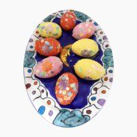 Piatto portauova PASQUA - L'Arte in Ceramica Vietrese